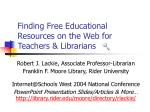 finding free educational resources on the web for teachers librarians45