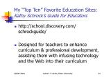 my top ten favorite education sites kathy schrock s guide for educators