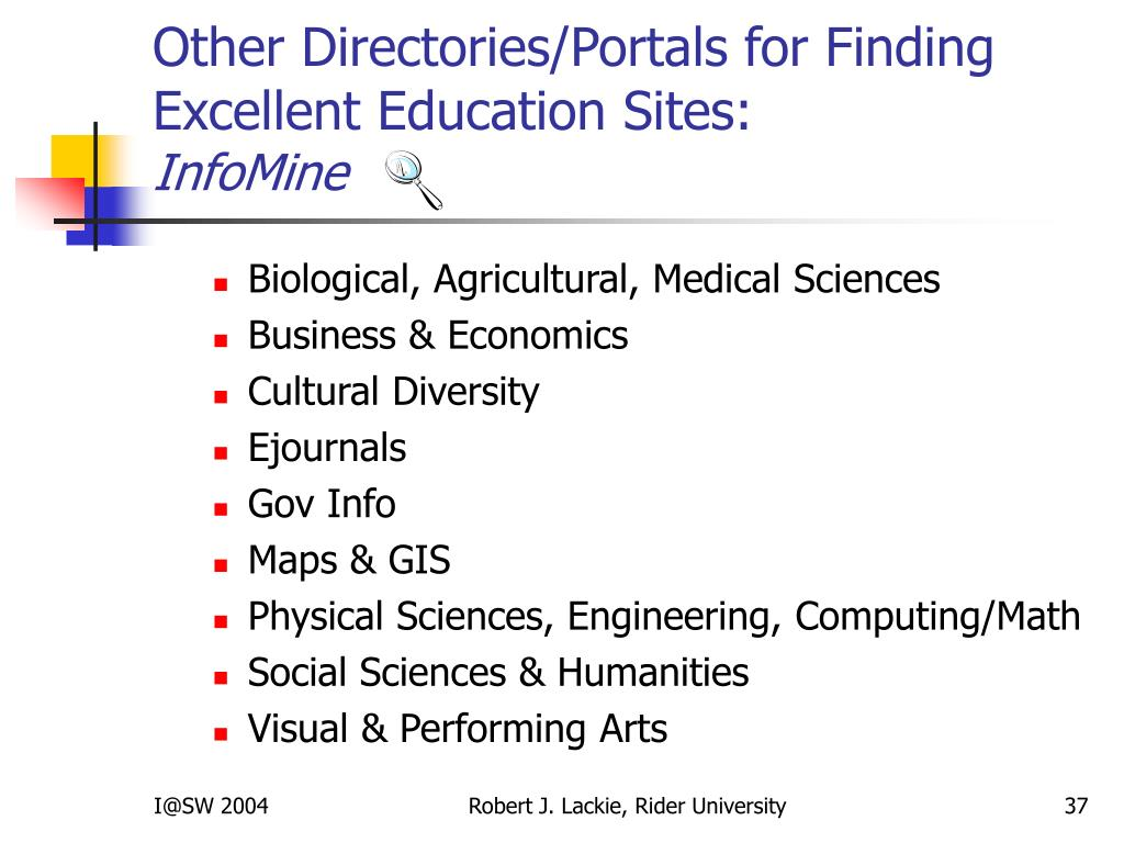 Other Directories/Portals for Finding Excellent Education Sites: