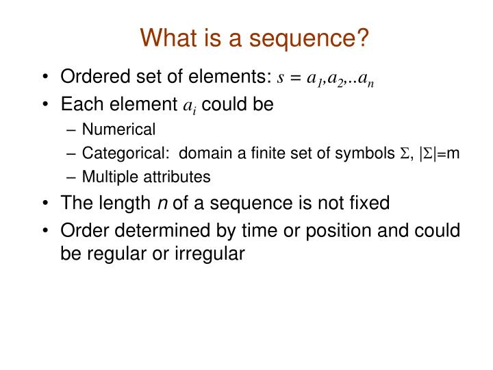 What is a sequence
