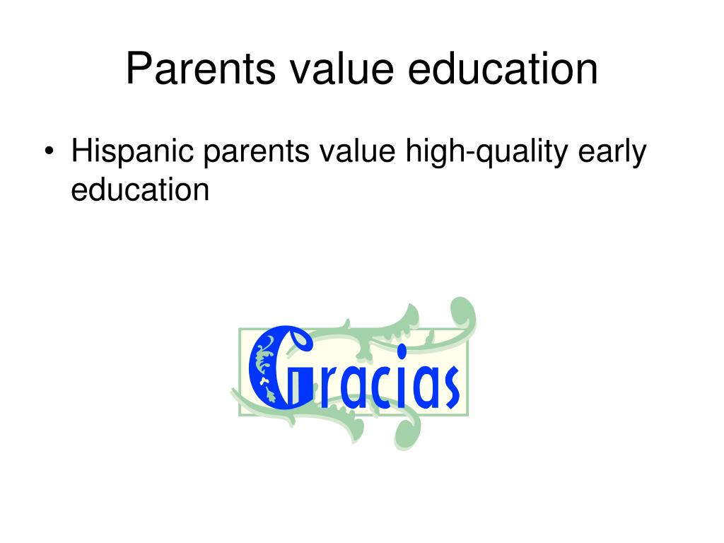 Parents value education