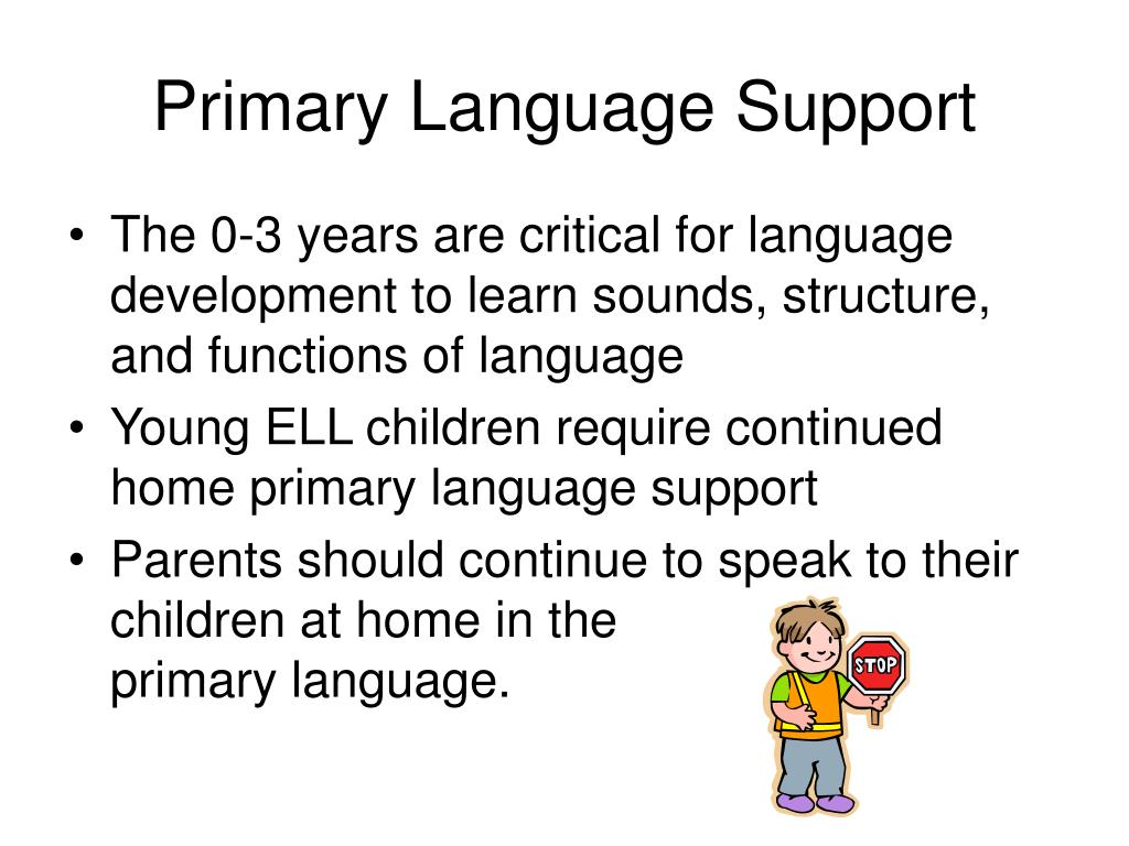 Primary Language Support