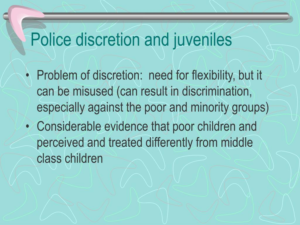 Police discretion and juveniles