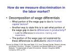 how do we measure discrimination in the labor market