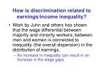 how is discrimination related to earnings income inequality