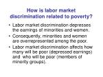how is labor market discrimination related to poverty