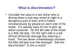 what is discrimination