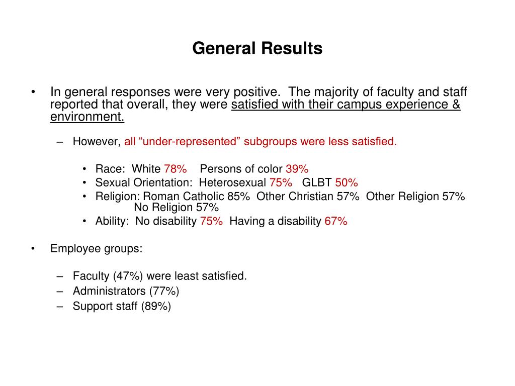 General Results