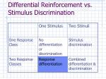 differential reinforcement vs stimulus discrimination31