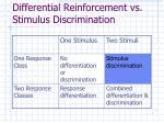 differential reinforcement vs stimulus discrimination34