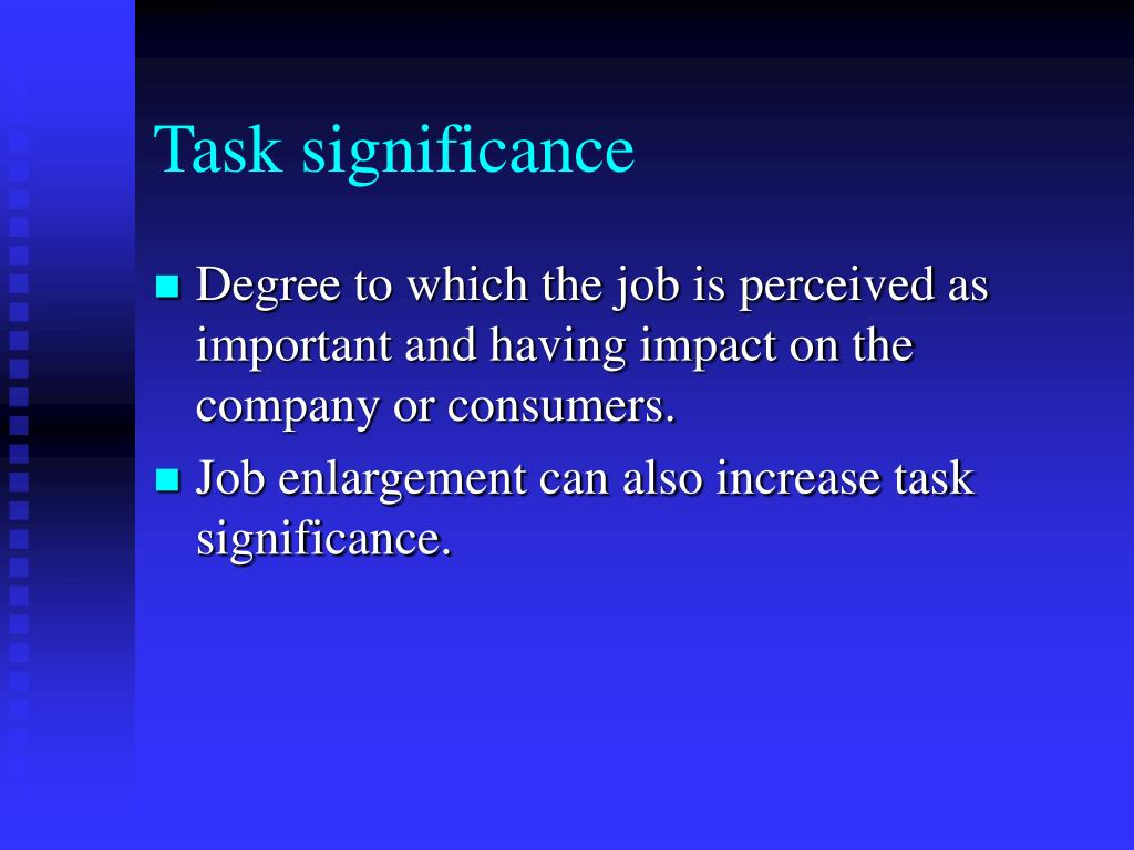 Task significance