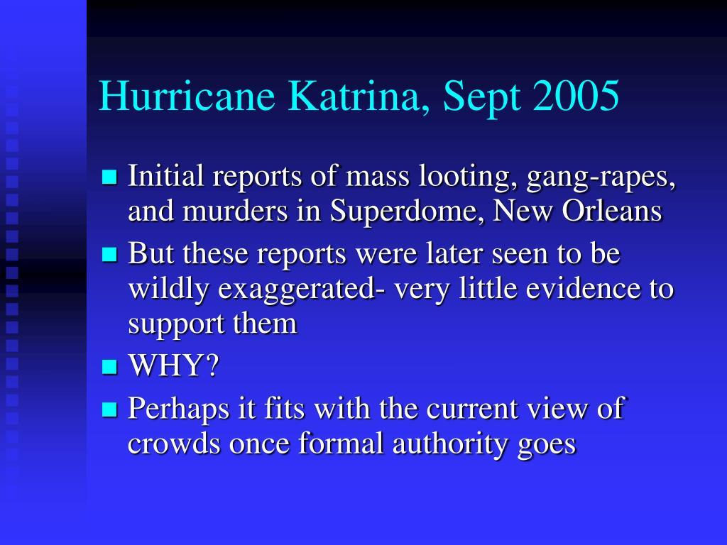 Hurricane Katrina, Sept 2005
