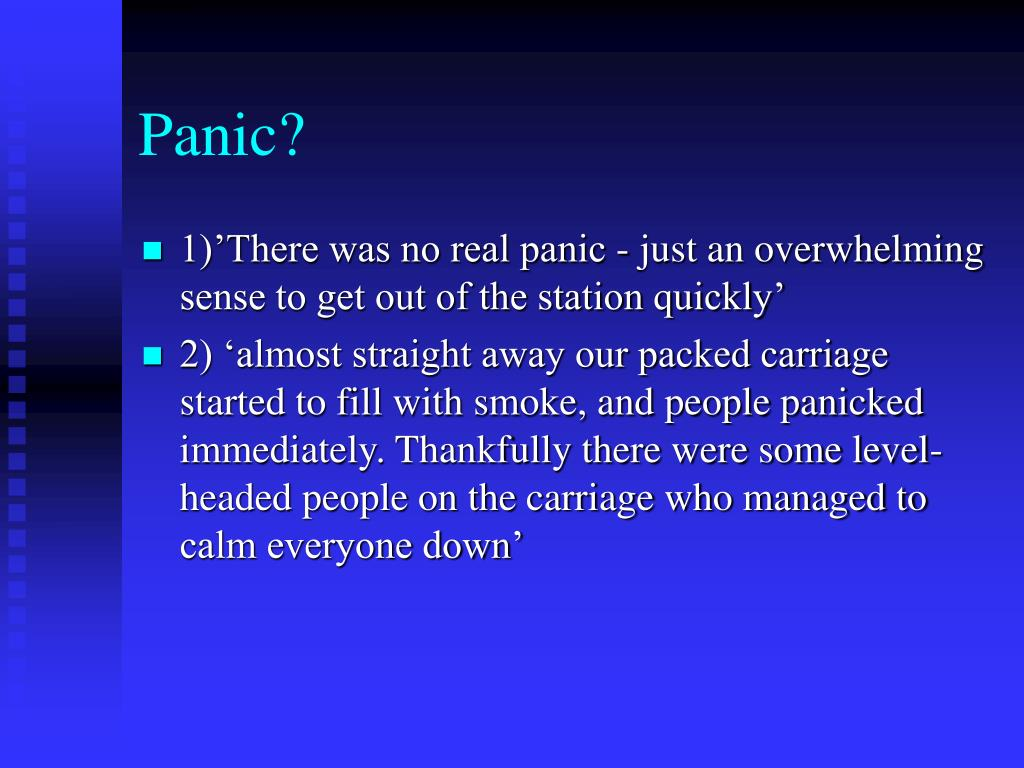 Panic?