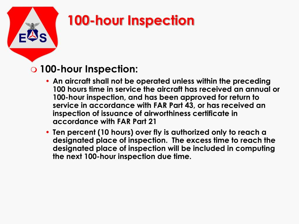 100-hour Inspection