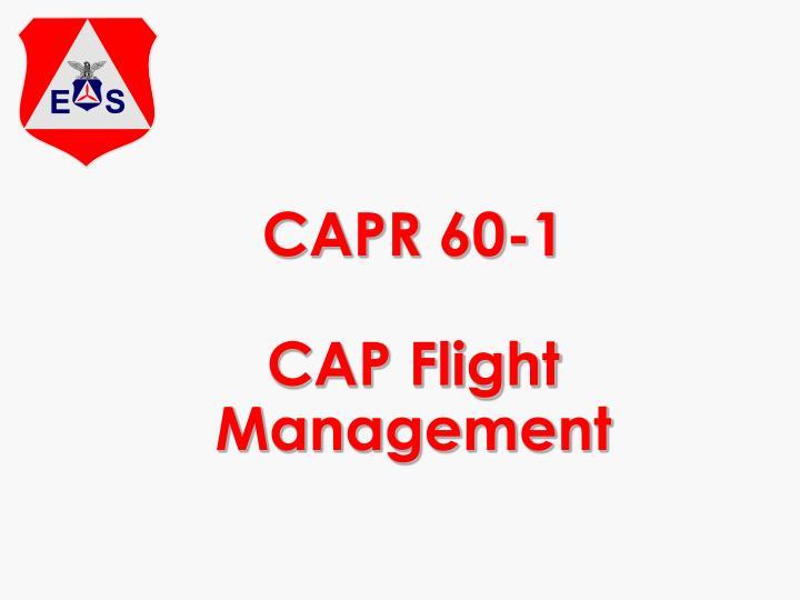 Capr 60 1 cap flight management