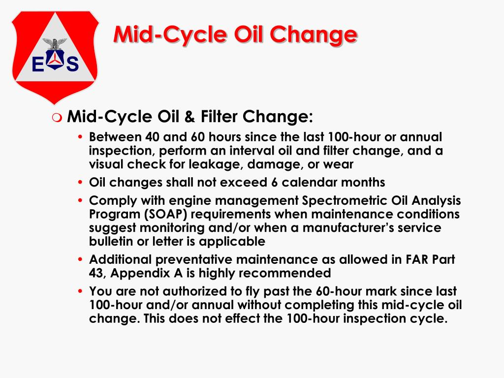 Mid-Cycle Oil Change