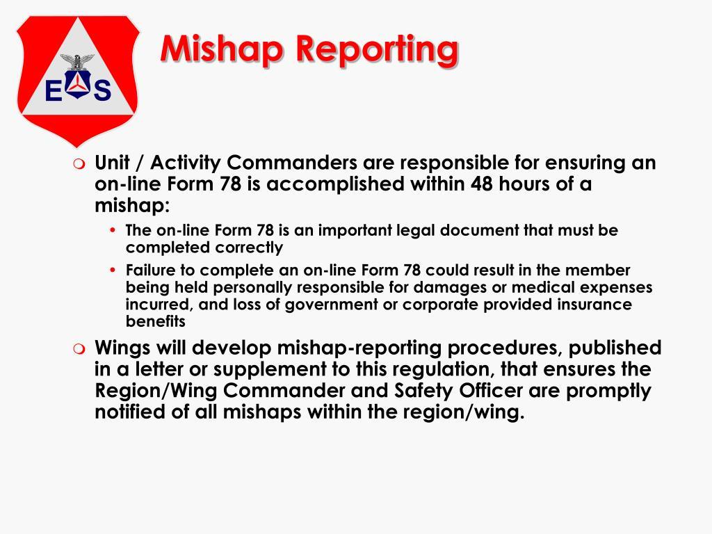 Mishap Reporting