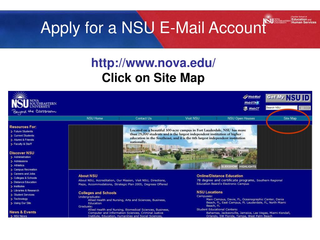 Apply for a NSU E-Mail Account