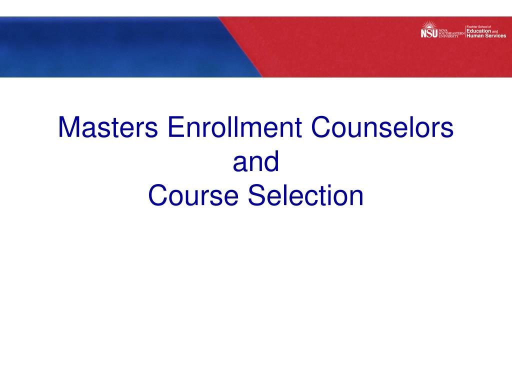 Masters Enrollment Counselors and