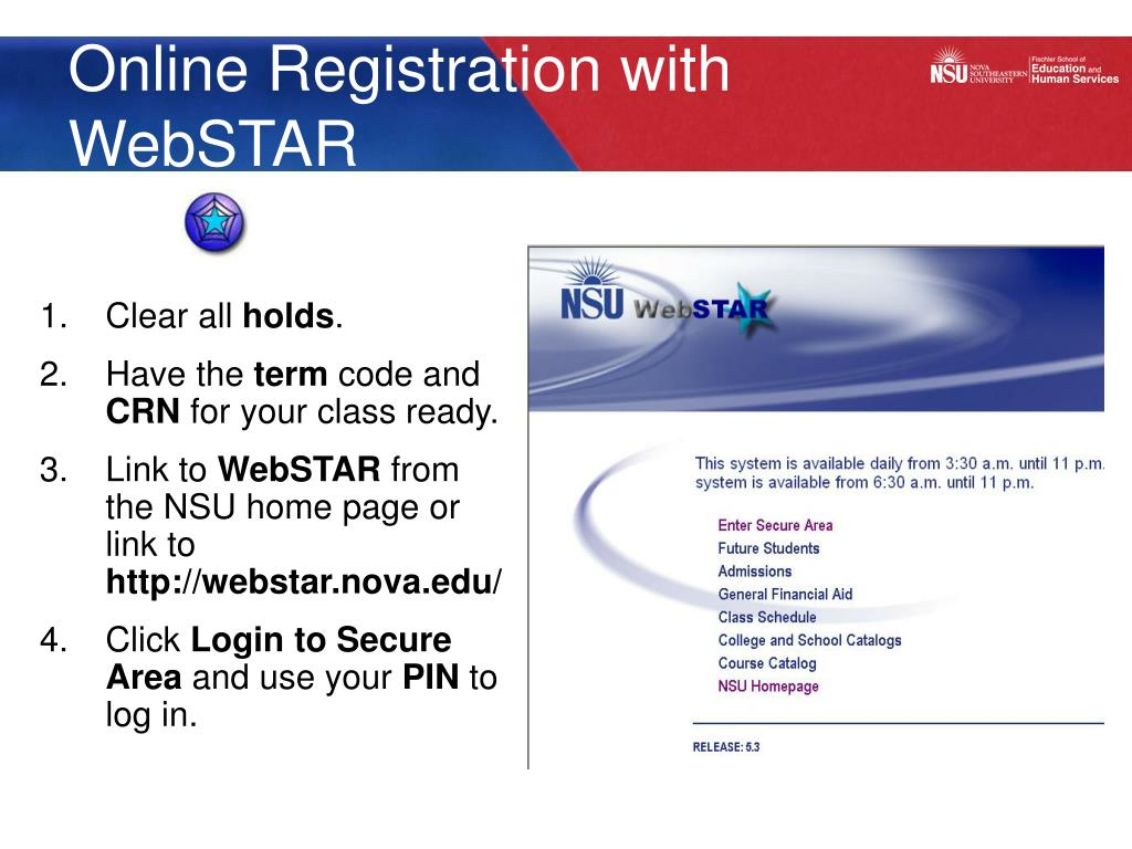 Online Registration with