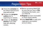 registration tips
