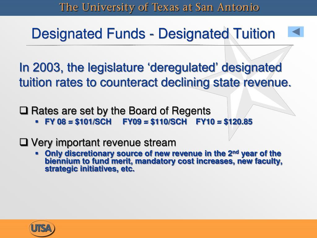Designated Funds - Designated Tuition