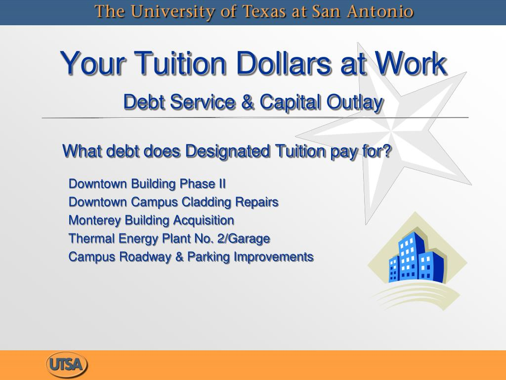 What debt does Designated Tuition pay for?