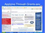 applying through grants gov