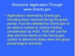 electronic application through www grants gov80