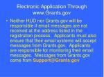 electronic application through www grants gov81