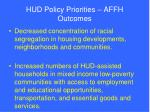 hud policy priorities affh outcomes
