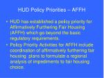 hud policy priorities affh