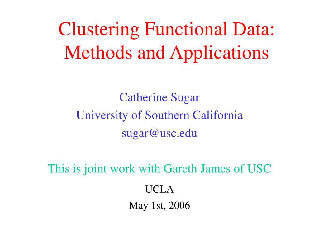 Clustering Functional Data: