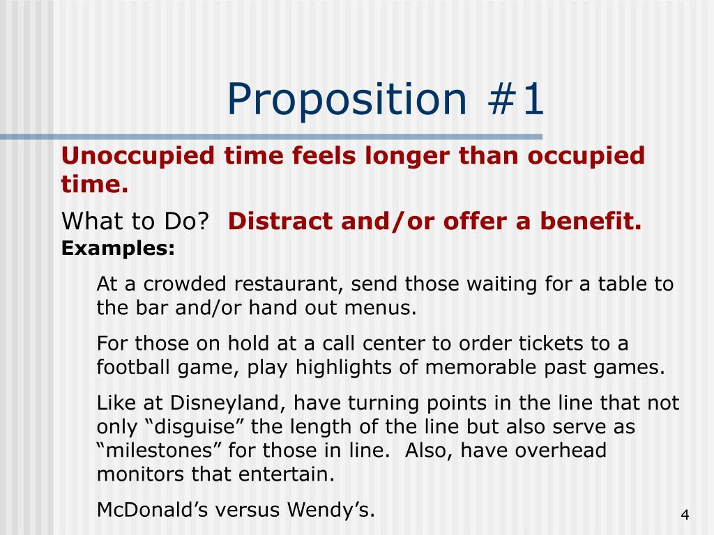 Proposition #1