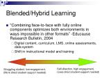 blended hybrid learning