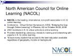 north american council for online learning nacol