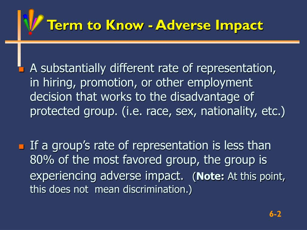 Term to Know - Adverse Impact