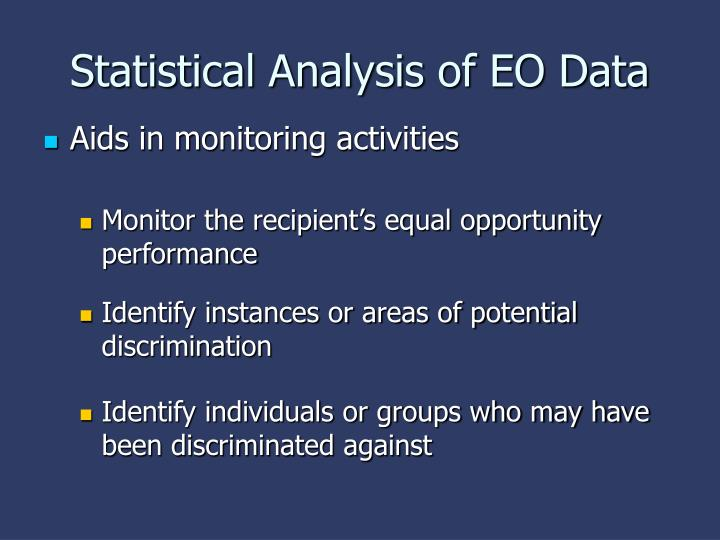 Statistical analysis of eo data2