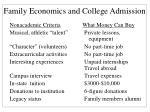 family economics and college admission20