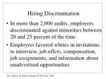hiring discrimination