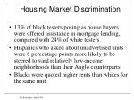 housing market discrimination