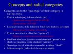 concepts and radial categories