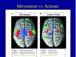 movement vs actions