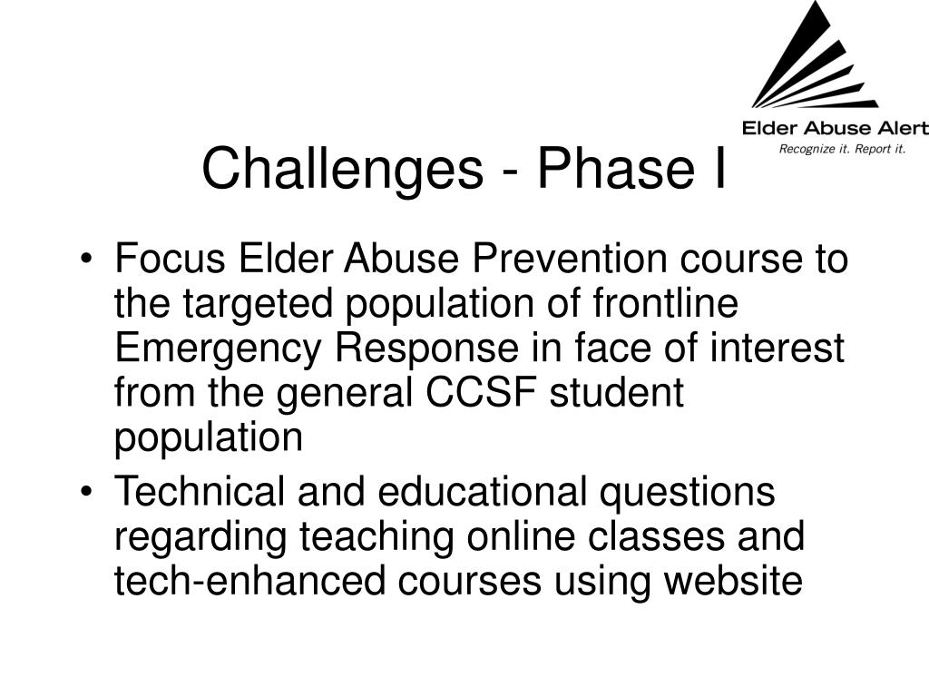 Challenges - Phase I
