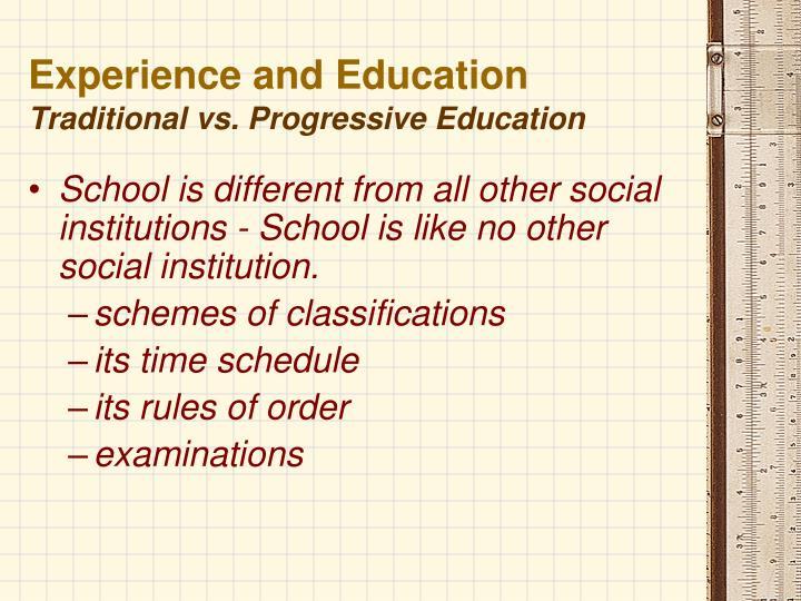 progressive vs traditional education