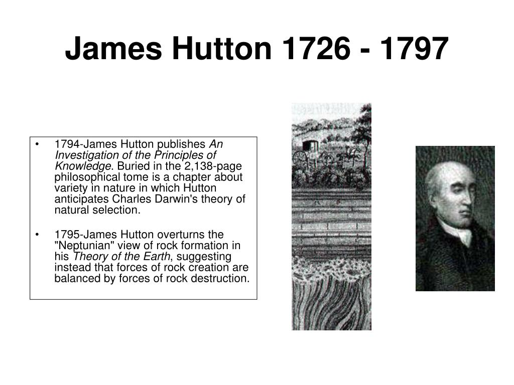 James Hutton 1726 - 1797