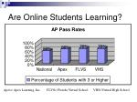 are online students learning