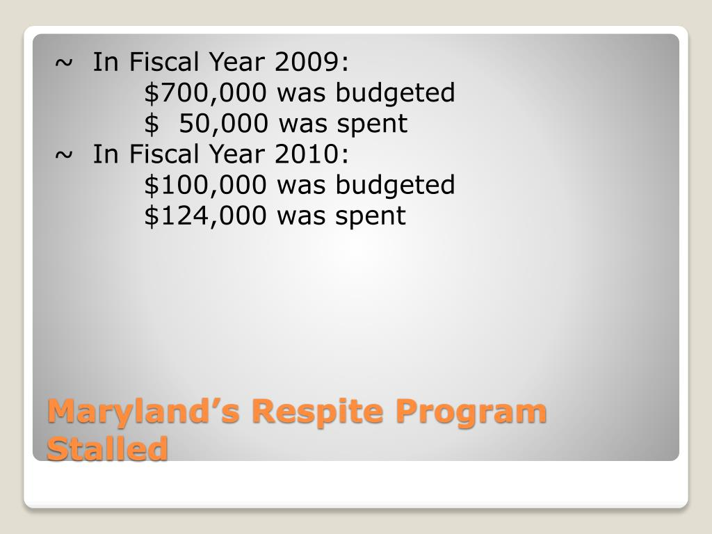 ~  In Fiscal Year 2009: