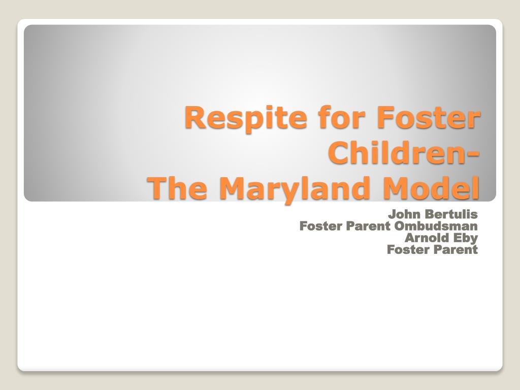 Respite for Foster Children-