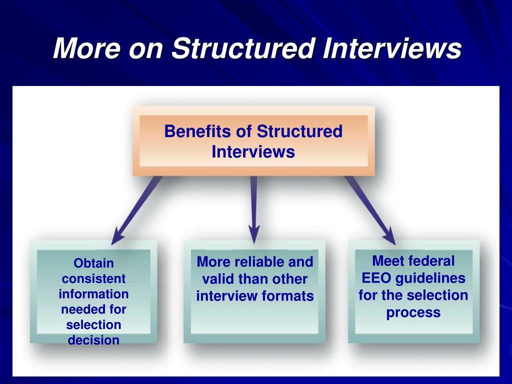 Benefits of Structured Interviews